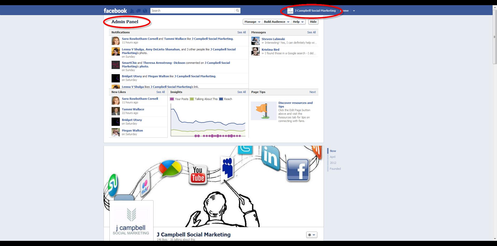 J Campbell Social Marketing Facebook Page