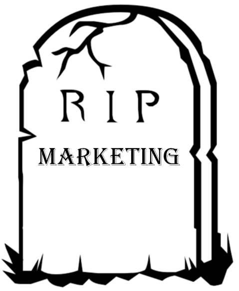 Marketing is dead gravestone